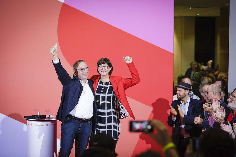 Norber Walter-Borjans und Saskia Esken sind neue Parteivorsitzende!